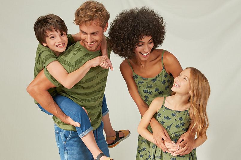 Estampas de folhagens para os pais e toda a família